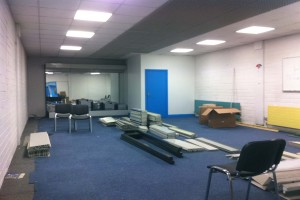 Before the fit-out